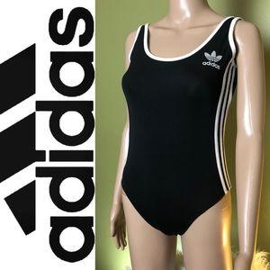 ADIDAS Originals 3 Stripes Black Bodysuit